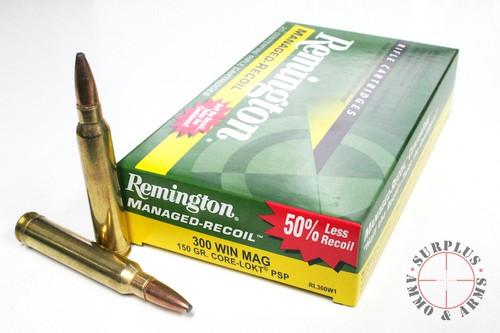 Surplus Ammo 300 Win Mag 150 Gr Core-Lokt PSP Managed Recoil Remington