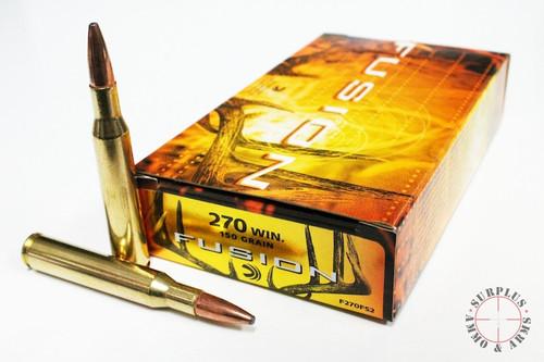Surplus Ammo 270 Win 150 Grain SBT Federal Fusion