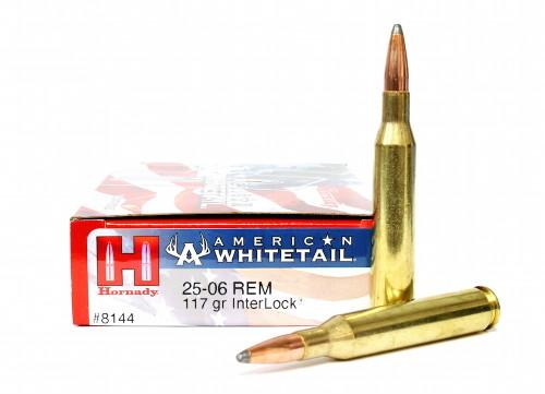Surplus Ammo, Surplusammo.com .25-06 Rem 117 Grain Interlock Hornady American Whitetail Ammunition