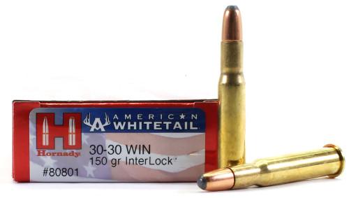 Surplus Ammo .30-30 150 Grain Interlock SP Hornady American Whitetail Rifle Ammuntion