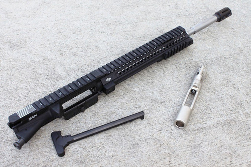 "Surplusammo.com SAA 16"" 5.56 NATO Free Float Mid Slant Utility Complete AR-15 Upper Receiver - Customizable SAAURG027"