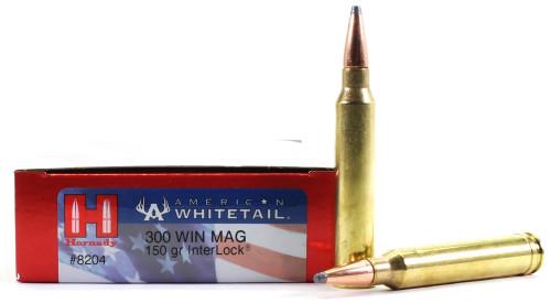Surplus Ammo 300 Win Mag 150 Grain Interlock SP Hornady American Whitetail