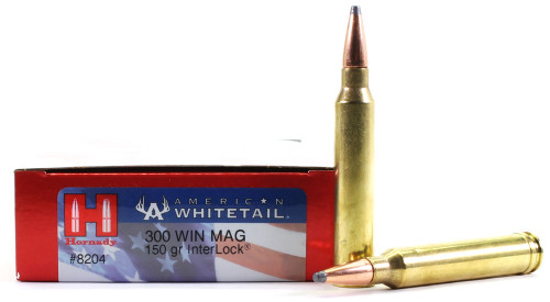 Surplus Ammo 300 Win Mag 150 Grain Interlock SP Hornady American Whitetail