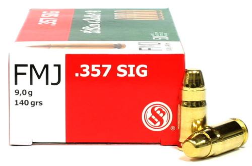 357 Sig 140 Grain FMJ Sellier & Bellot SB357SIG