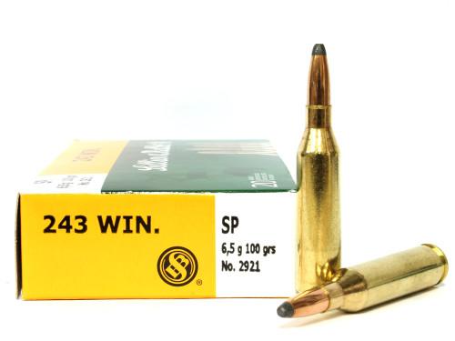 Surplusammo.com   Surplus Ammo .243 Win 100 Grain SP Sellier & Bellot - 20 Rounds SB243A