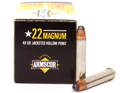 Surplusammo.com, Surplus Ammo 22 Magnum Ammo 40 Grain JHP Armscor Precision ACIP-22WMR Ammunition