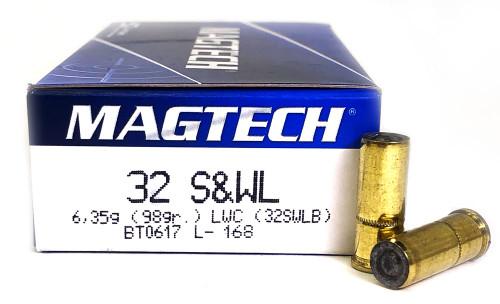 32 S&W Long Magtech 98 Grain Lead Wadcutter - 32SWLB 32SWLB