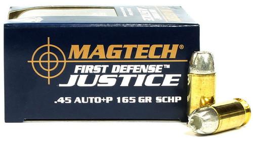 45 ACP +P 165gr SCHP Magtech First Defense JUSTICE - FDJ45A FDJ45A