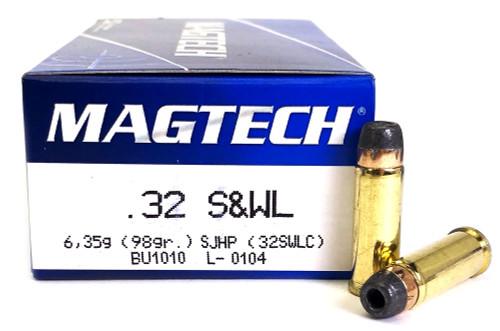 32 S&W Long Magtech 98 Grain SJHP - 32SWLC 32SWLC