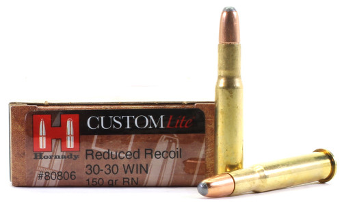Surplus Ammo .30-30 Win 150 Grain RN Hornady CustomLite Reduced Recoil Rifle Ammunition