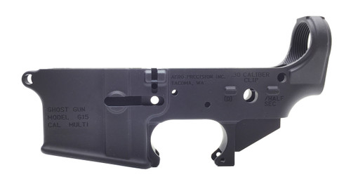 Surplusammo.com Aero Precision AR-15 Ghost Gun G15  Stripped AR15 Rifle Lower Receiver