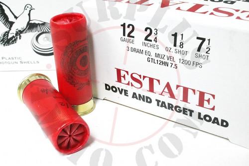 """12 Gauge Federal Estate Game & Target Dove 2 3/4"""" 1 1/8oz. #7.5 Shot -   25 Rounds"""