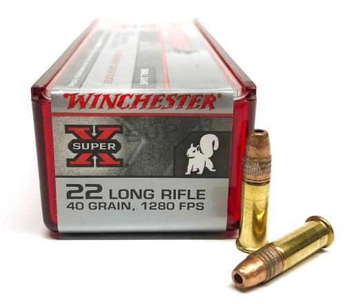 22 LR Winchester Super-X 40 Grain Power-Point WNX22LRPP1