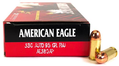 380 Auto 95 Grain FMJ Federal American Eagle AE380AP - 50 Rounds FDAE380AP