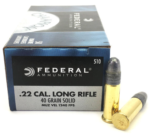22 LR Federal Champion 40 Grain Solid Point Lead Round Nose FD510