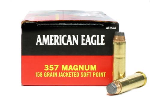 Surplus Ammo   Surplusammo.com 357 Magnum Ammo 158 Grain JSP Federal American Eagle Jacketed Soft Point Ammunition