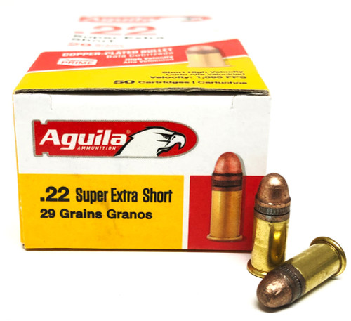 22-SHORT Aguila High Velocity 29 Grain Solid Point 1B222110