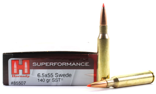 Surplus Ammo 6.5x55 Swedish 140 Grain SST Hornady Superformance