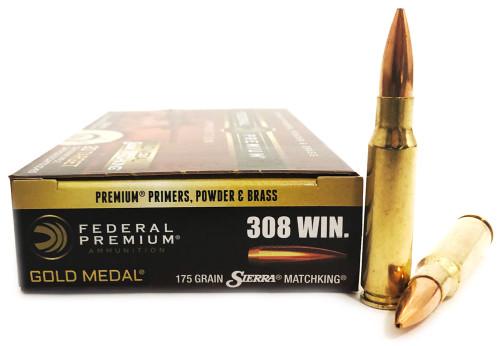 .308 Win 175 Grain Sierra Matchking HP-BT Federal Gold Medal Match FDGM308M2