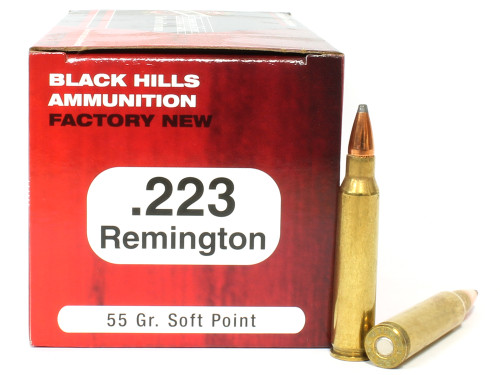 Surplusammo.com | Surplus Ammo .223 55 Grain SP Black Hills - 50 Rounds, NEW  BHD223N2