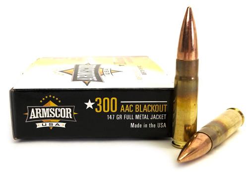 300 AAC Blackout 147 Grain FMJ Armscor USA AC 300AAC-1N