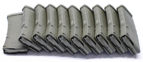 Magpul PMAG M2 MOE 30 Round Magazine - 10 pack Surplus Ammo Olive Drab Green MAG571 mag