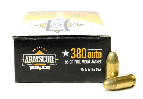 Surplus Ammo | Surplusammo.com 380 Auto 95 Gr FMJ Armscor USA Ammunition