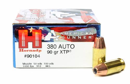 Surplus Ammo | Surplusammo.com 380 ACP 90 Grain XTP American Gunner Ammunition