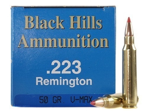 Surplus Ammo .223 50 Grain V-Max Black Hills re-manufactured ammunition