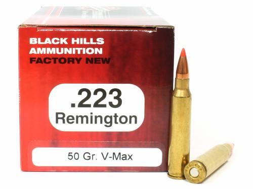 Surplusammo.com | Surplus Ammo .223 50 Grain V-Max Black Hills - 50 Rounds, NEW BHD223N7