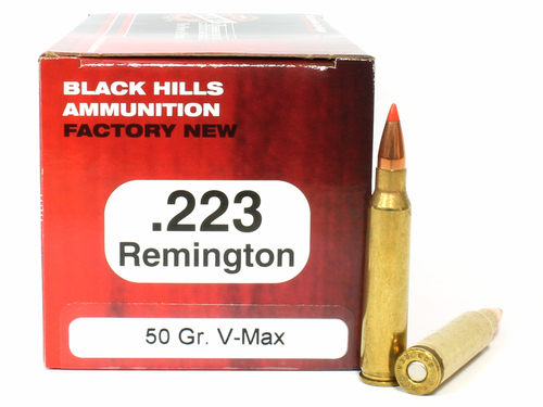 Surplusammo.com   Surplus Ammo .223 50 Grain V-Max Black Hills - 50 Rounds, NEW BHD223N7