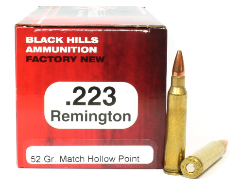 Surplusammo.com | Surplus Ammo .223 52 Grain Match HP Black Hills - 50 Rounds, NEW BHD223N3