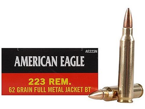 Surplus Ammo  .223 62 Grain FMJ-BT Federal American Eagle