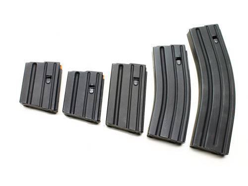Surplusammo.com | Surplus Ammo Ammunition Storage Components (ASC) AR-15 .223/5.56 & 300AAC STAINLESS STEEL Magazines - Black 5, 10, 20, 30, 40 Round 223-SS-BM-O-ASC