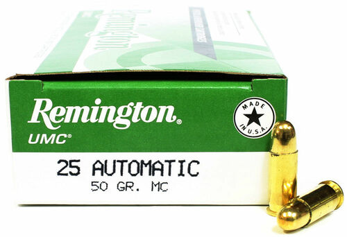 Surplus Ammo | Surplusammo.com Remington L25AP UMC Handgun Ammunition .25 Auto