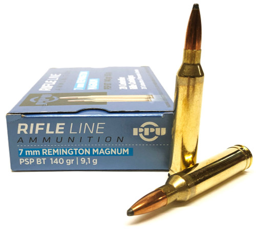 7mm Rem Mag 140 Grain Pointed Soft Point Prvi Partizan PPU Ammo PP7RM1