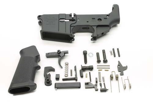 Surplusammo.com Anderson AM-15 AR15 Rifle / Pistol Lower Receiver Stripped Lower Receiver + Lower Parts Kit LPK - Unassembled