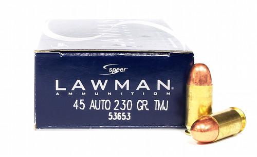 Surplus Ammo, Surplusammo.com 45 ACP 230 Grain TMJ Clean Fire Speer Lawman 53885