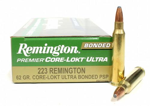Surplus Ammo, Surplusammo.com .223 Rem 62 Grain Core-Lokt Ultra PSP Remington Premier