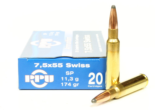 Surplus Ammo, Surplusammo.com 7.5x55mm Swiss 174 Grain SP Prvi Partizan