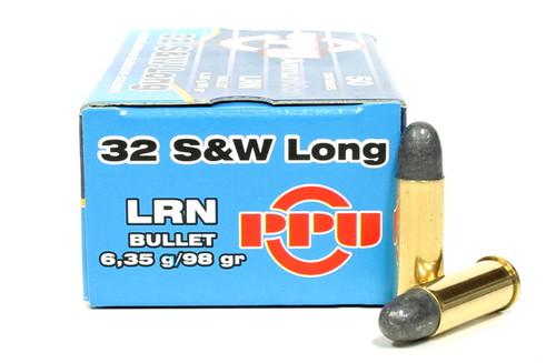 Surplus Ammo, Surplusammo.com 32 S&W Long 98 Grain Prvi Partizan LRN