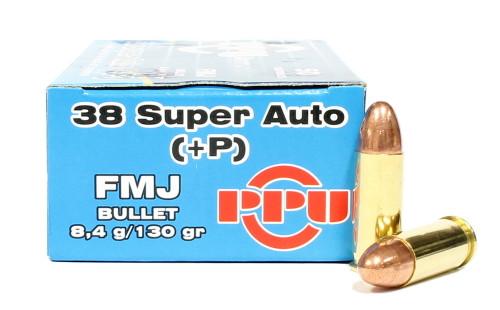 Surplus Ammo | Surplusammo.com 38 Super Auto +P 130 Grain FMJ Prvi Partizan Ammunition