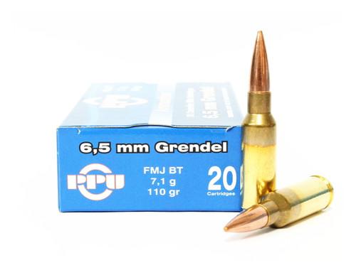 6.5 Grendel 110 Grain FMJ Prvi Partizan Ammunition PP6.30