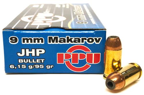 9x18 Makarov 95 Grain JHP Prvi Partizan PPD9M