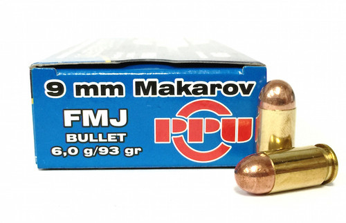 Surplus Ammo | Surplusammo.com 9x18 Makarov 93 Grain FMJ Prvi Partizan Ammunition