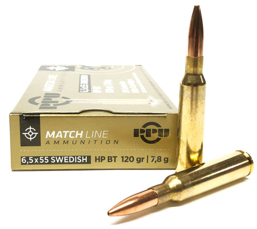 6.5x55mm Swedish 120 Gr HPBT Prvi Partizan PPU PPM6