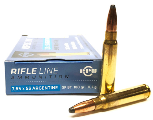 7.65x53mm Argentine 180 Grain SPBT Prvi Partizan PP7AS
