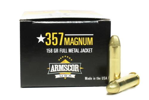 Surplus Ammo | Surplusammo.com 357 Magnum 158 Grain FMJ Armscor USA Ammunition