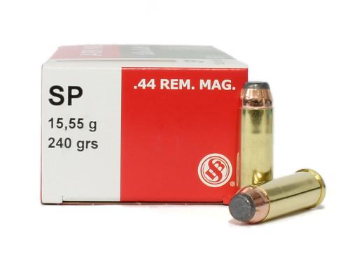 Surplus Ammo | Surplusammo.com 44 Rem Mag 240 Gr SP Sellier & Bellot Ammunition