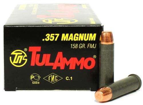 357 Magnum 158 Grain FMJ TulAmmo TA357158